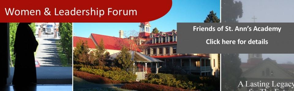 Women & Leadership Forum: Friends of St. Ann's Academy Nov 6-9